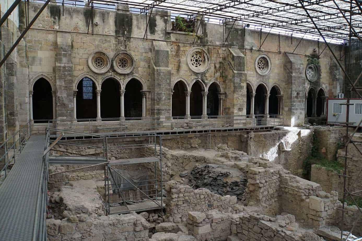 ExploreTraveler Presents: Exploring Lisbon Portugal Part 1 - A large stone building - Archaeological site