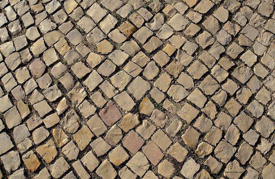 cobblestone walkways