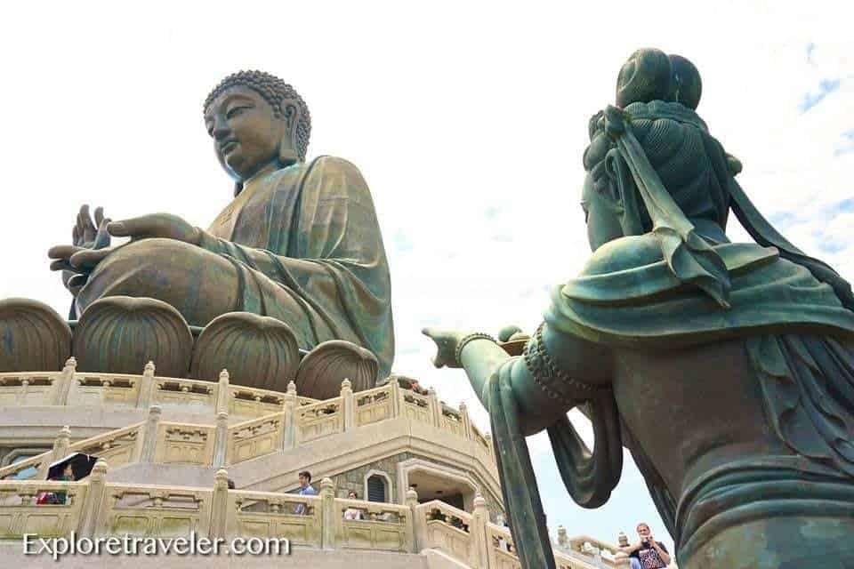 The Big Buddha Sitting On A Lily Pad