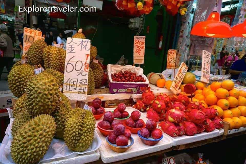Mong Kok Fruit Market