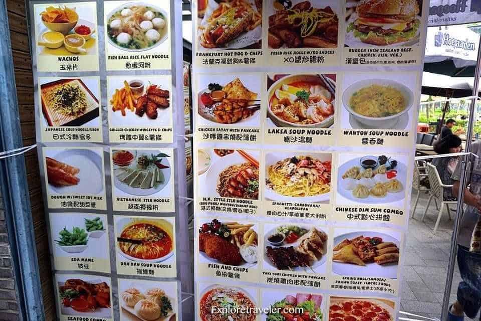 A Food Menu At Stanley Market