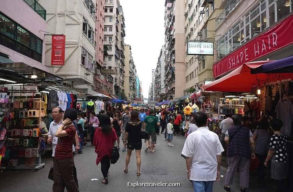 Mongkok Street Market In Hong Kong