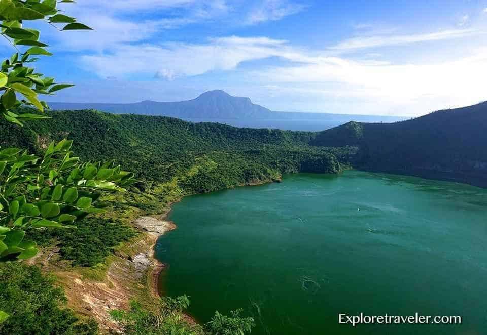 Taal Volcano With Its Lake Caldera