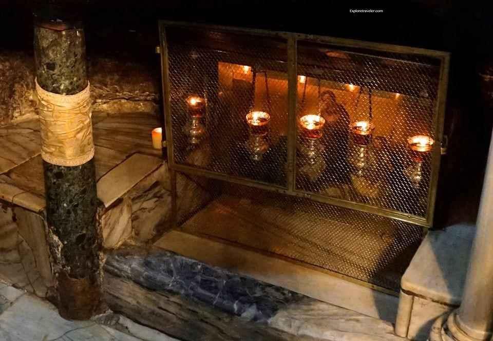 The Church Of The Nativity In Bethlehem Israel - A close up of a fire oven - Church of the Nativity
