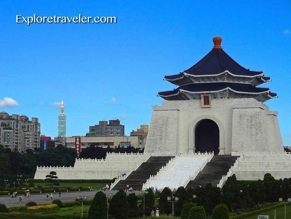 Chiang Kai-shek Memorial Hall In Taipei Taiwan
