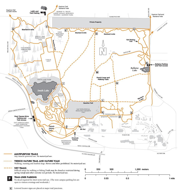 My Alaska Hiking Blog of the Far North - A close up of a map - University of Alaska
