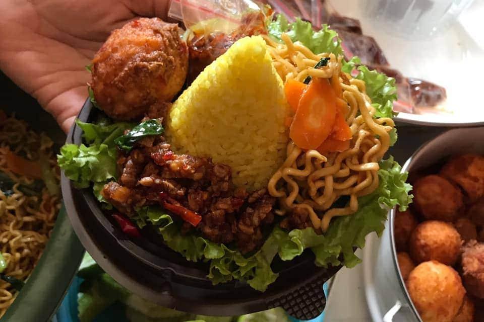 Exploring Majalengka Indonesia Indonesian yellow turmeric rice