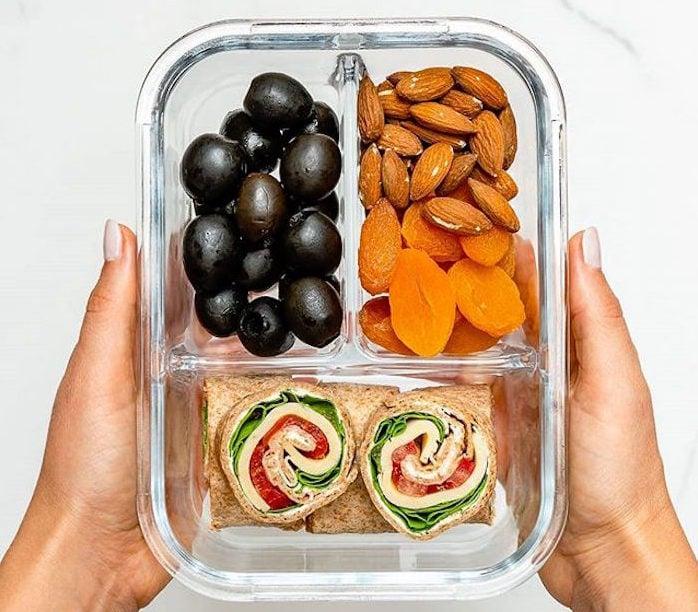Healthy clean travel food