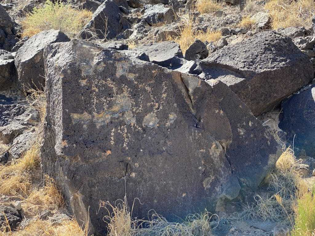 petroglyph rocks carved by the Pueblo peoples.
