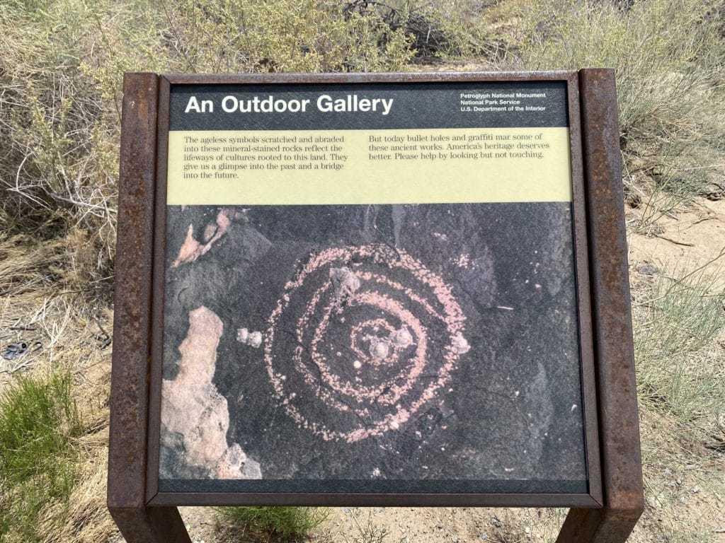 Boca Negra canyon trail informational board