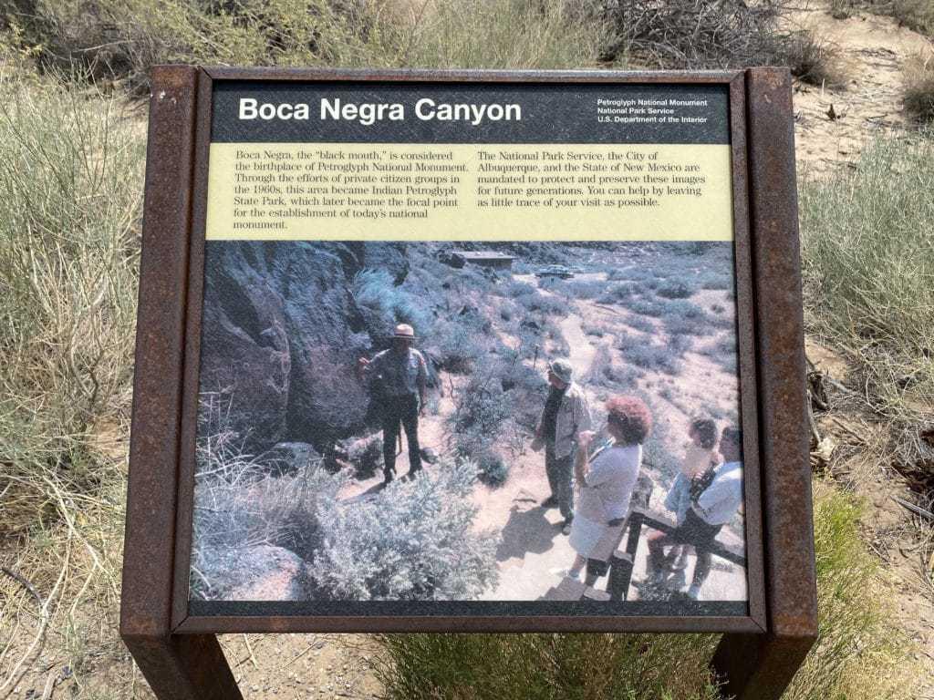 Boca Negra canyon trail Best alburquerque hiking trails
