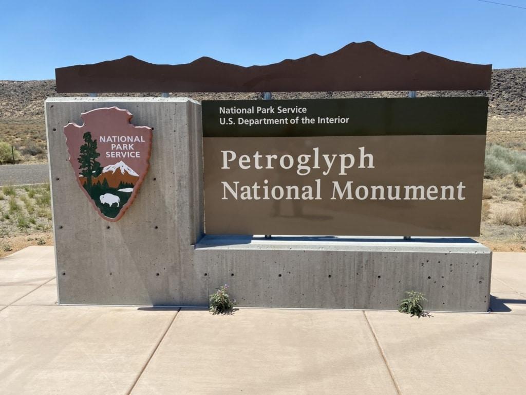 petroglypth national monument front gate visitors center