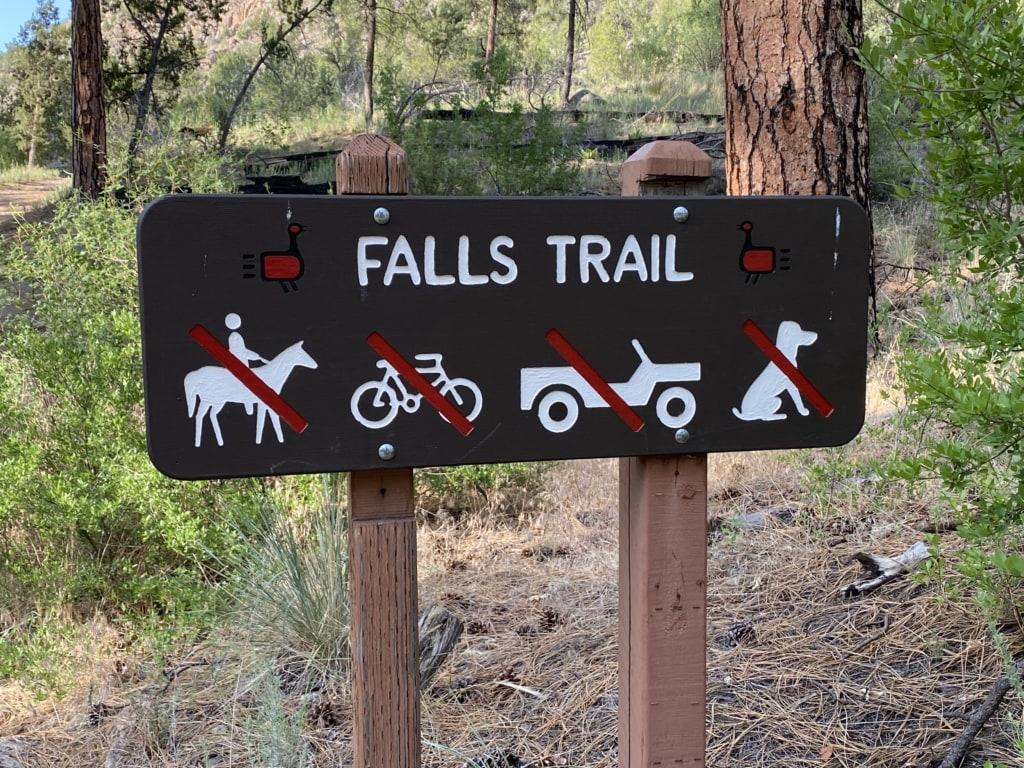 bandelier national park falls trail