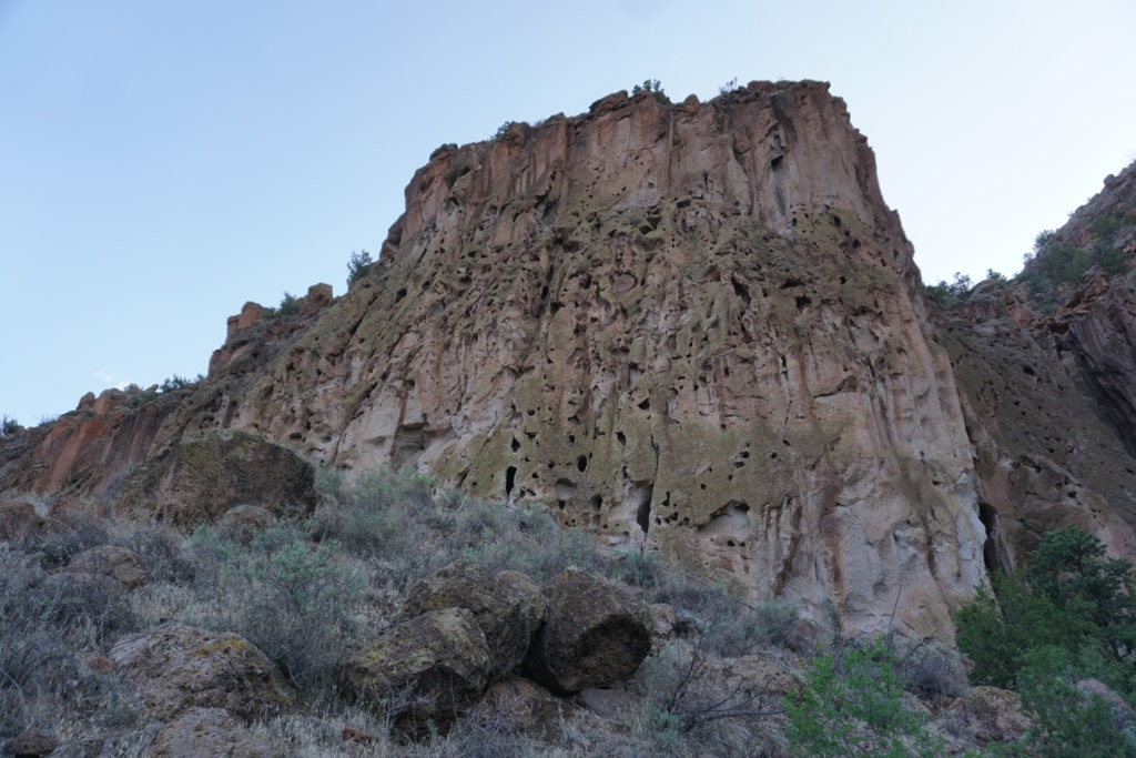 rock formations of Bandelier National Monument