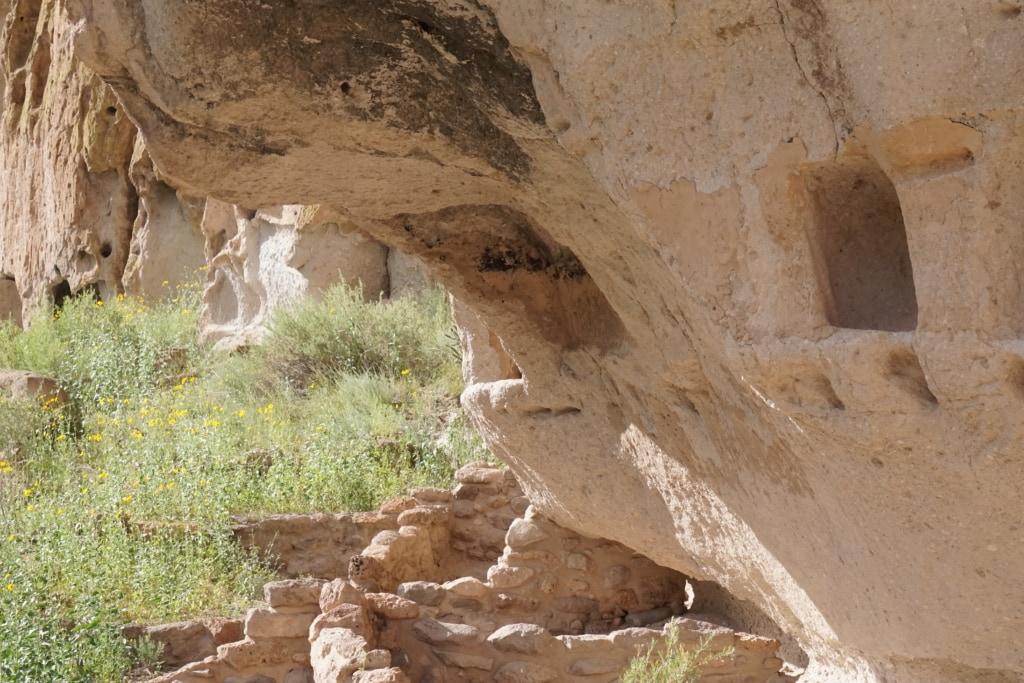 pueblo cliffside dwellings