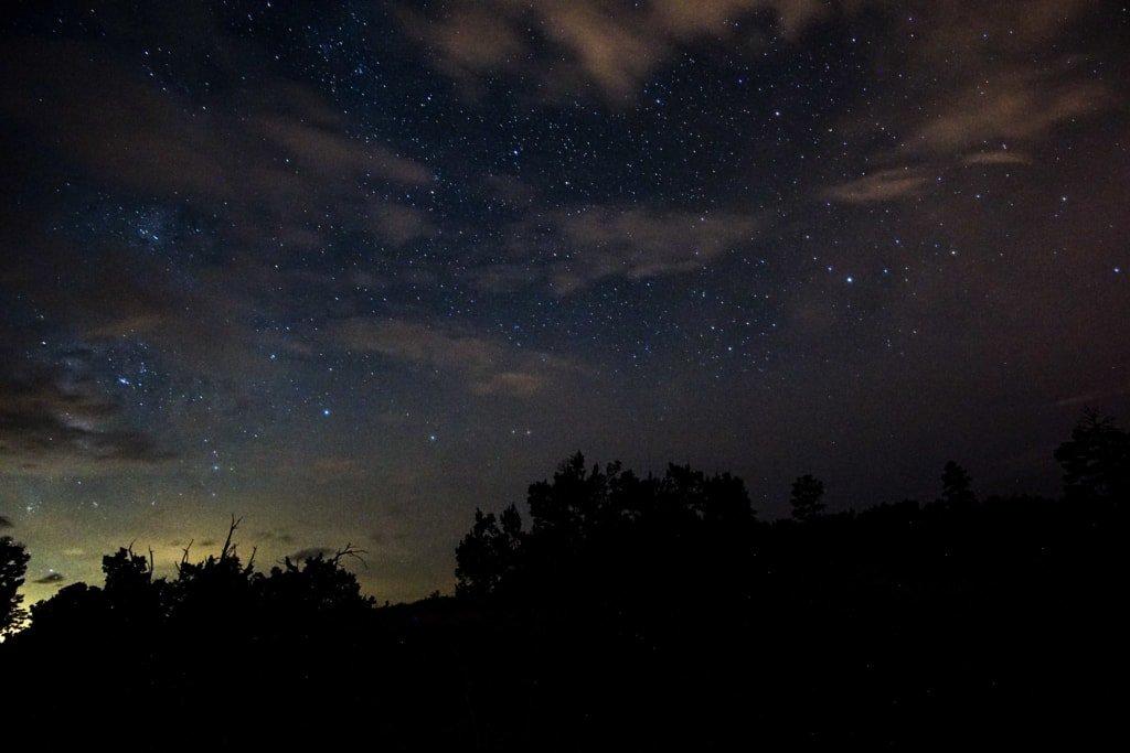 the midnight sky over bandelier national monumenr