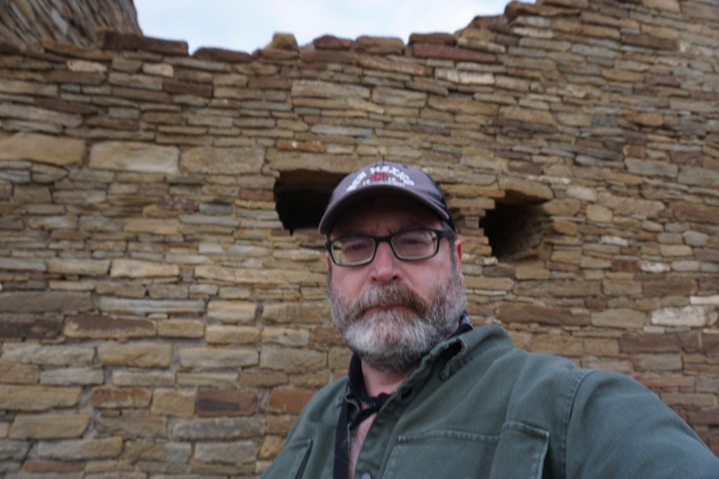 John Gentry at Chaco Culture National Historical Park Pueblo Bonito Ruins
