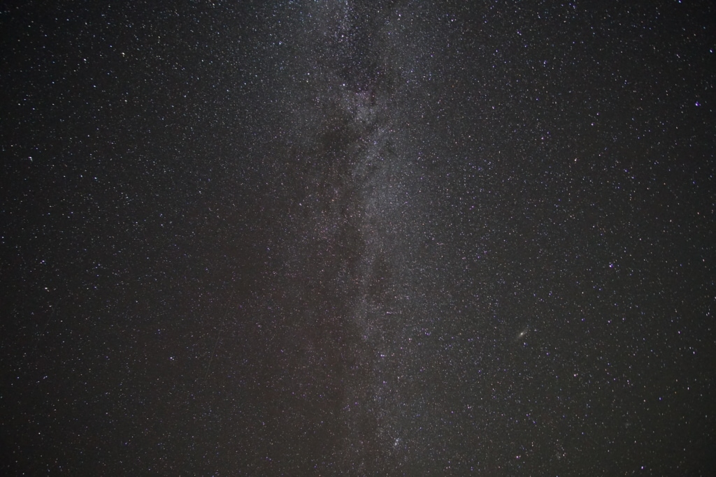 Close up of the Milky Way within the Hovenweep National Monument of the Canyons of the Ancients.