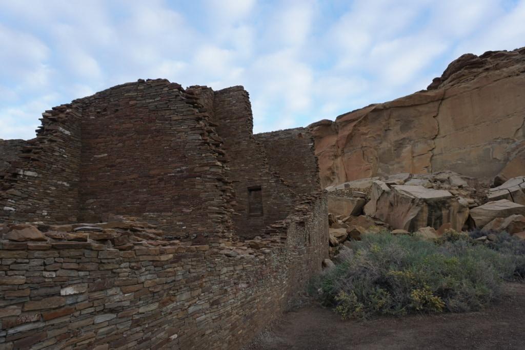 Chaco Culture National Historical Park Pueblo Bonito Ruines Angle View