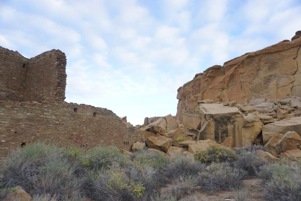 Chaco Culture National Historical Park Pueblo Bonito Ruins Wide View